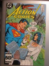 Buy Action Comics #567 SUPERMAN 1985 nice gloss & color 1st print, 1st series ever