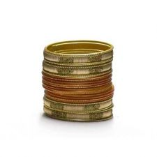 Buy Bangle Bracelet Sets of 24. Confetti Rectangle Gold