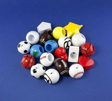 Buy Plastic Novelty Assorted. Originally used as lip balm tops.