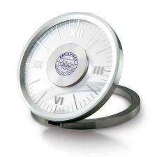 Buy Solid Metal Clock. Matte Silver, See-Thru Dial