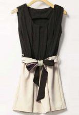 Buy Chiffon Sleeveless Slim Mini Dress-Zanzea