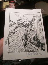 Buy Signed Print by Randy Emberlin 1994/2003 OF SPIDER-MAN Marvel Comics with Bags