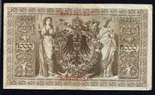 Buy 1910 Germany 1000 Mark Banknote Nr 5308323F Imperial Germany - Red Seal