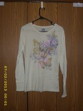 Buy Long Sleeved T-Shirt Size M Butterfly Tattoo 100% Cotton FRZ Brand