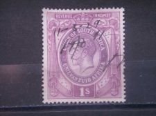 Buy SOUTH AFRICA, 1913, used 1sh, Revenue, George V