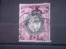 Buy SOUTH AFRICA, 1935, used £2, Revenue, George V