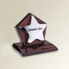 Buy Silver Plated Brass Star Award on Glossy Piano Finish Stand