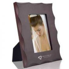 "Buy Stylish 4"" x 6"" Wood Photo Frame w/Beveled Design Outer Edges"