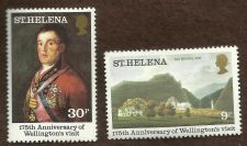 Buy ST.HELENA SG367/8 1980 175th ANNIV OF WELLINGTON'S VISIT