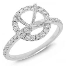 Buy 18Kt White Gold .36 Carat Total Weight Diamond Ring Semi Mount