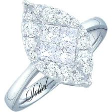 Buy 14Kt White Gold .25 Carat Total Weight Diamond Engagement Ring