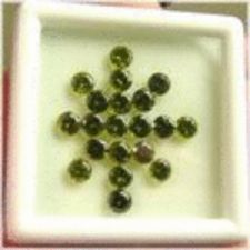 Buy 20 Pieces Dark Green Peridot Rounds - 0.44CTS avg