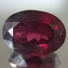 Buy GARNET - GRAPE RED OVAL FACET - 1.855cts