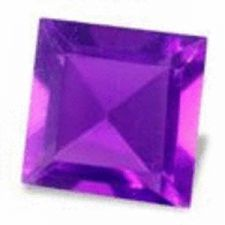 Buy AMETHYST - PURPLE SQUARE FACET - +/-0.16cts