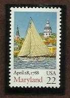Buy 1988 22c Maryland Scott #2342 Unused