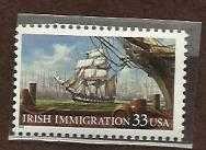 Buy 1999 33c Irish Immigration Scott #3286 - Unused