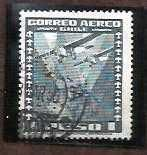 Buy CHILE International Airmail 1 Peso Airplane USED