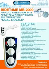 "Buy Bidet4me Hot/Cold Water, MB-2000, ""Dual Nozzles"" (Male and Female)"