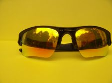 Buy OAKLEY FLAK BLK YELLOW 03-899 WITH 63-14 POLARIZED FAIR 2 GOOD CONDITION