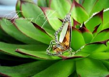 Buy New Fashion Beautiful Butterfly Wings Women Crystal Necklace | Gold