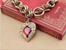 Buy HOT! Fashion Women Love Heart Ruby Retro Bracelet