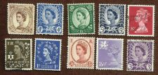 Buy Great Britain Lot of 10 Queen Elizabeth Coil Stamps including 3 Postage Revenue