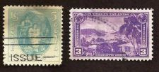 Buy 1937 US 5c Virginia Dare & 1937 US Virgin Islands Charlotte Armalie Harbor USED