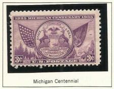 Buy 1935 Michigan Centennial UNUSED STAMP