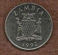 Buy ZAMBIA 25 NGWEE 1992 UNC CROWNED HORNBILL