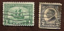 Buy 1923 US 2c Harding & 1920 US 1c Mayflower - Two Used Stamps