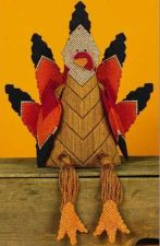 Buy Thankxgiving Turkey Sitter Plastic Canvas PDF Pattern Digital Delivery