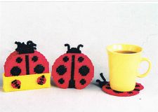 Buy Lady Bug Coastersr Plastic Canvas PDF Pattern Digital Delivery