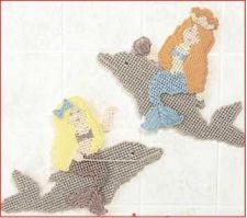Buy Mermaid Wall Hanger Plastic Canvas PDF Pattern Digital Delivery