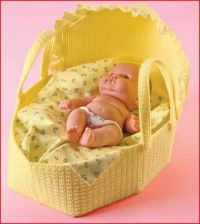 Buy Baby Doll Bassinette Plastic Canvas PDF Pattern Digital Delivery