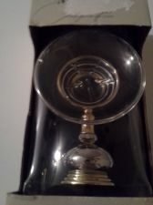 Buy Glass with Chrome and Brass Trim Soap Dish by Bath Unlimited - New Item