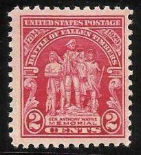 Buy 1929 US 2c General Wayne Memorial