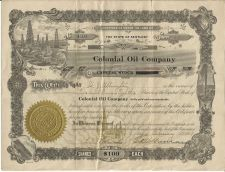 Buy Colonial Oil Company Capital Stock Shares 1919