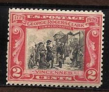 Buy Scott 651 US Stamp 1929 2c George Rogers Clark Surrender of Fort Sackville