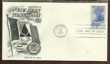 Buy US #1247 U/A FLEETWOOD FDC New Jersey Tercentenary