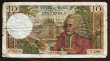 Buy France 10 Francs 1968 Banknote 61928 Voltaire
