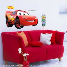 Buy Giant Pixar Cars Lightning McQueen Wall Stickers Huge 44Wx24H Finished Size
