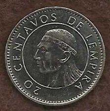 Buy Honduras 20 Centavos 1994 Coin, Lempira Brave