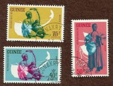 Buy GUINEA - Bolon Musician Set of 3 Stamps 1962