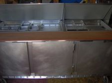 Buy Three door sandwich prep unit- megatop w/ full pans