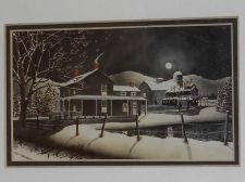 Buy Snowy nightime farm scene
