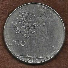 Buy 1980 Italy 100 Lire Coin