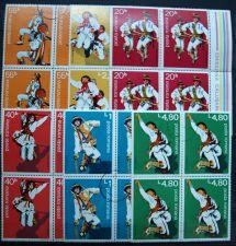 Buy Romania - 1977 - Traditional dancers - calusari - BLOCK of 4