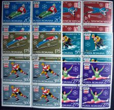Buy Romania - 1976 - Innsbruck Olympic Games - BLOCK of 4