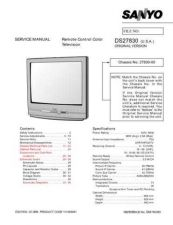 Buy Sanyo DS27830(OM) Manual by download #174060