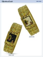 Buy Men Metal Band Watch with Jesus and Madonna in Gold Color #194 free shipping